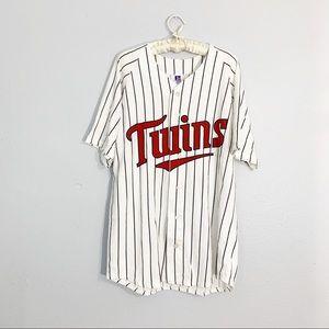 Vintage Minnesota Twins Blank Pinstripe Jersey